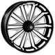 21 in. x 3.5 in. Boss One-Piece Contrast-Cut Aluminum Wheel for Models w/ABS - 12047106BSSJBM