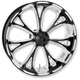 Front Platinum Cut 21 x 3.5 Virtue One-Piece Chrome-Forged Aluminum Wheel - 12027106VIRJBMP