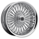 Chrome 23 x 3.75 Radial Laced 50-Spoke Wheel Assembly for Single Disc w/ABS - 0203-0558