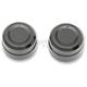 Black Front Billet Axle Cap And Nut - 0214-0831