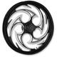 Black/Chrome 23 x 3.75 Savage Eclipse Front Wheel (w/ABS) - 23375-9002-85E