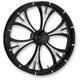 Black/Chrome 21 x 3.50 Majestic Eclipse Front Wheel (Non-ABS) - 21350-9001-102E