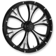 Black/Chrome 23 x 3.75 Majestic Eclipse Front Wheel (w/ABS) - 23375-9002-102E