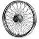 16 in. x 5.5 in. Chrome 80-Spoke Rear Wheel Assembly w/Twisted Spokes - 06-111