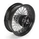 16 in. x 5.5 in. Black 80-Spoke Rear Wheel Assembly w/Round Spokes - 16-116