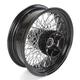 16 in. x 5.5 in. Black 80-Spoke Rear Wheel Assembly w/Twisted Spokes - 06-117