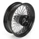 18 in. x 5.00 in. Black 80-Spoke Rear Wheel Assembly w/Round Spokes - 16-118