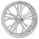 Chrome 21 in. x 3.5 in. Dixon Front Wheel for Models w/o ABS (dual disc) - 12027106DIXAJCH