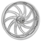 Chrome 23 in. x 3.5 in. Supra Front Wheel for Models w/o ABS (dual disc) - 12027306RSUPCH