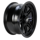 Matte Black 14 in. X 7 in. SS216 Alloy Black Ops Wheel - 1428544536B