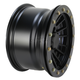 Matte Black 12 in. X 7 in. SD Alloy Beadlock Black Ops Wheel - 1228545536B