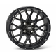 Matte Black Rear 12 X 7 Hurricane Wheel - 1228628536B