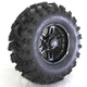 Front Right Painted Matte Black 26X9-12 Slingshot Tire/Wheel Kit - 2013-011R