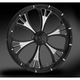 Black 23 x 3.75 Dual Disc Majestic Eclipse Front Wheel (w/o ABS) - 23750-9031-102E