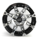 Front/Rear Machined w/Black 12x7 387X Golf Cart Wheel - 0230-0755