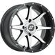 Rear Black Machined Storm 12 x 7 Wheel  - 570-1161