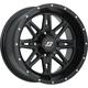 Front/Rear Black Badlands 14 x 7 12mm Stud Wheel - 570-1189