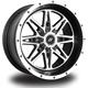 Rear Machined Black Badlands 12 x 7 Wheel - 570-1201