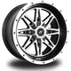 Front/Rear Machined Black Badlands 14 x 7 Wheel - 570-1208