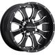 Front/Rear Machined Black Raceline Mamba 12 x 7 Wheel - 570-1501