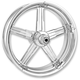 Front Chrome 23 x 3.5 Formula One-Piece Aluminum Wheel - 1204-7306R-FRM-BM