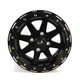 Black 14 x 7 Star Fighter Wheels - 985-25B