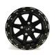 Black 14 x 7 Star Fighter Wheels - 985-35B