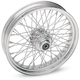 Chrome 19 x 2.15 60-Spoke Laced Wheel Assembly for Single or Dual Disc - 0203-0082
