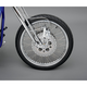 Chrome 21 x 2.15 60-Spoke Laced Wheel Assembly for Single or Dual Disc - 0203-0090