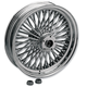 Front Chrome 18 x 3.5 Fat Daddy 50-Spoke Radially Laced Wheel for Dual Disc - 0203-0252