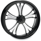 Black 18 x 8.5 Custom Gasser Contrast Cut Wheel for 3/4 in. Axle and 240mm Wide Tire/Wide Drive Performance Machine Phatail Swingarm Kit - 12747825RGAS