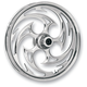 Front Chrome 21 x 3.5 Savage One-Piece Wheel for Dual Disc - 21350-9917-85C