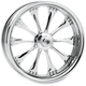 Chrome 18 x 8.5 Custom Hooligan Wheel for 3/4 in. Axle and 240mm Wide Tire/Wide Drive Performance Machine Phatail Swingarm Kit - 1274-7825R-HOOR