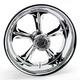 Chrome 18 x 8.5 Custom Wrath Wheel for 1 in. Axle - 1274-7825R-WRA1