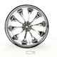 Chrome 18 x 10.5 Custom Hooligan Wheel for 1 in. Axle - 1274-7834R-HOO1