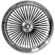 Black 16 x 3.5 Fat Daddy 50-Spoke Radially Laced Wheel for Single Disc - 0203-0348