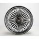 Rear Black 16 x 3.5 Fat Daddy 50-Spoke Radially Laced Wheel - 02040316