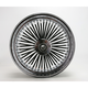Rear Black 16 x 3.5 Fat Daddy 50-Spoke Radially Laced Wheel - 0204-0317