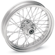 Chrome 21 x 3.5 40-Spoke Laced Wheel Assembly for Single Disc Non ABS - 0203-0384