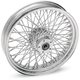 Chrome 21 x 3.5 80-Spoke Laced Wheel Assembly for Single Disc Non ABS - 0203-0387