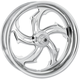 Chrome 18 x 8.5 Custom Rival Wheel for 1 in. Axles - 12747825RRVL