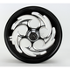 Black 18 x 3.5 Savage Eclipse One-Piece Wheel - 18350-9916-85E