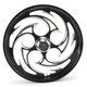 Black 21 x 3.5 Savage Eclipse One-Piece Wheel for Single Disc  Models w/o ABS - 21350-9032-85E