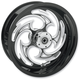 Black 18 x 5.5 Savage Eclipse One-Piece Wheel for OEM Pulley w/o ABS - 18550-9210-85E