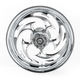 Rear Chrome 17 x 6.25 Savage One-Piece Wheel for OEM Pulley - 17625-9210-85C