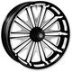 18 in. x 5.5 in. Boss One-Piece Contrast Cut Aluminum Wheel - 1270814RBSSBM