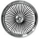 Rear Black 17 x 6 Fat Daddy 50-Spoke Radially Laced Wheel - 02040352