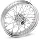 Chrome Rear 16 x 3.5 40-Spoke Laced Wheel Assembly - 0204-0355