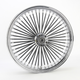 Black 21 x 3.5 Fat Daddy 50-Spoke Radially Laced Wheel for Dual Disc - 0203-0402
