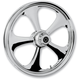 Front 23 in. x 3.75 in. Nitro Chrome One-Piece Forged Aluminum Wheel - 23375-9935-92C